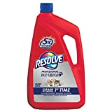 Resolve Pet Carpet Steam Cleaner Solution, 96 fl oz Bottle, 2X Concentrate