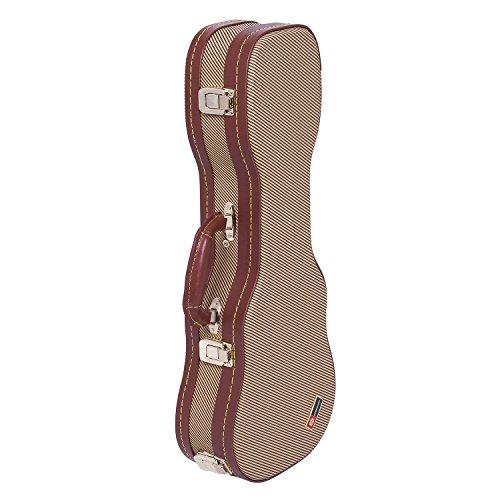 (Crossrock CRW700SUTW Soprano Ukulele Case Hard shell - Deluxe Tweed Wooden Case)