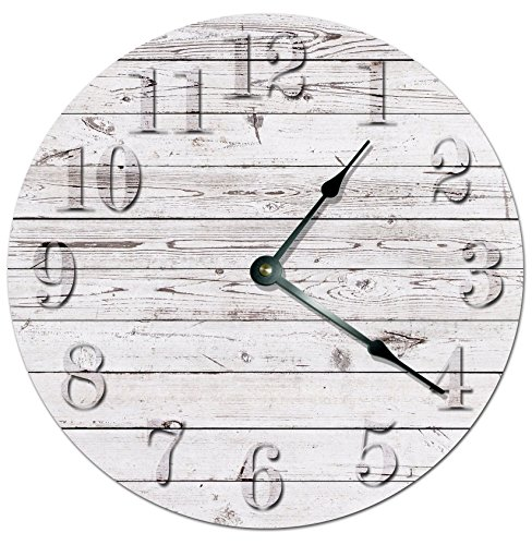 Rustic Beach Wooden Board Wall Clock Beachfront Decor