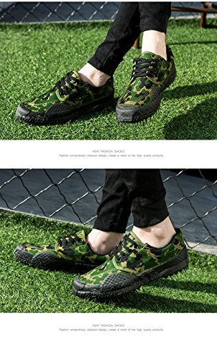 Green 99 Working Slip Cut Men Unisex Safety Sneaker Camo 2 Women Shoes Camouflage Resistant Low aBWTwUw