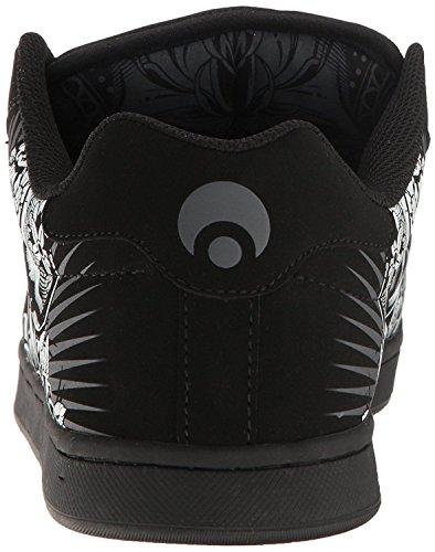 Osiris Troma Redux Negro Blanco Ante Hombres Patín Zapatos