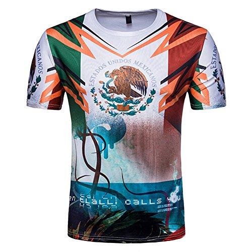 Mens World Cup Mexico T-Shirt Football Fans Short Sleeve Tees