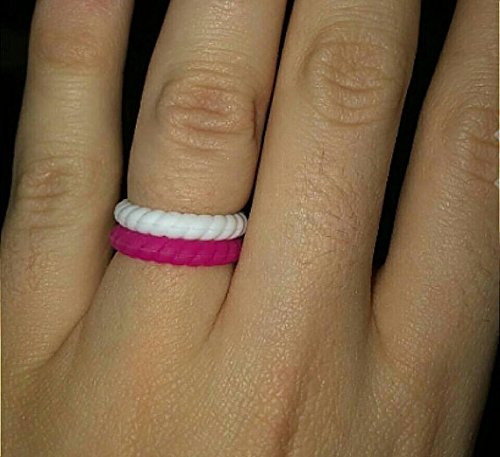 Amazon Com Made For Her Stackable Silicone Wedding Rings For Women