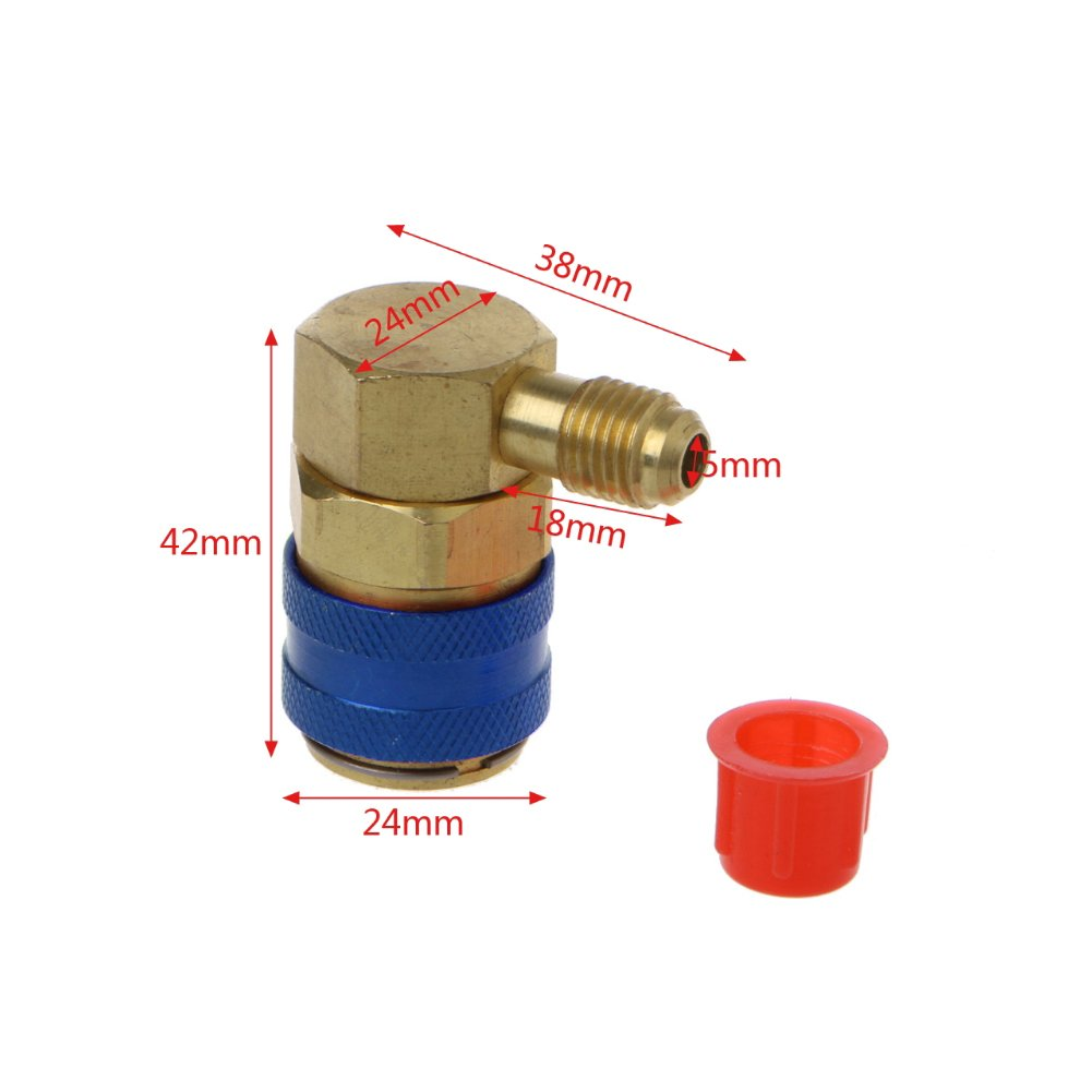 2PCS AC R134A Quick Connector Adapter Coupler Auto A//C Manifold Gauge Low//High HVAC Auto Air-Conditioning High//Low Pressure Side Automarketbiz 5559176103