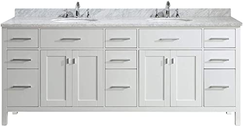 Luca Kitchen Bath LC84CWW Geneva 84″ Double Vanity Set