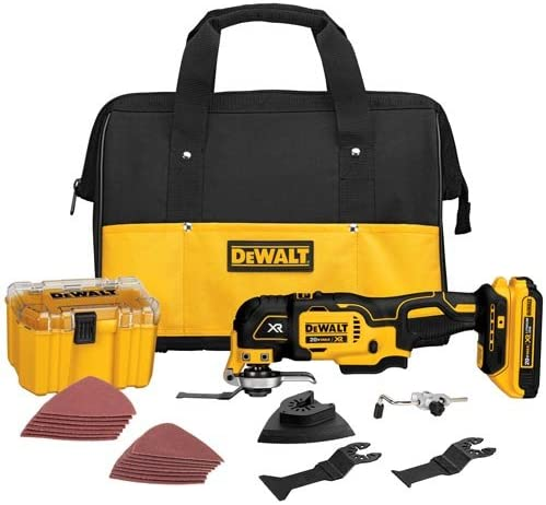 DEWALT 20V MAX XR Oscillating Tool Kit, Brushless, 28 Pieces DCS355D1