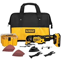 The DEWALT DCS355D1 20V MAX XR Lithium-Ion Oscillating Multi-Tool Kit (2.0 Ah) features a DEWALT brushless motor that delivers up to 57% more run time over brushed. The special QUICK-CHANGE accessory system allows blades and attachments to be...