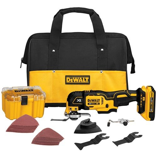 - DEWALT DCS355D1 20V XR Lithium-Ion Oscillating Multi-Tool Kit