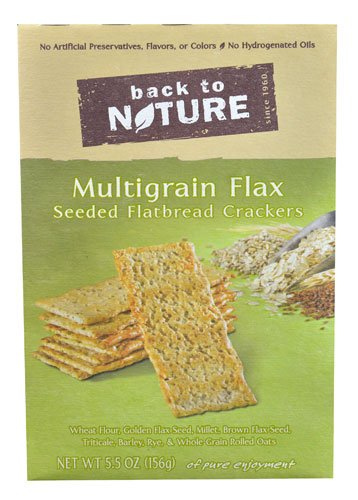 - Back To Nature Seeded Flatbread Crackers Multigrain Flax -- 5.5 oz - 2 pc