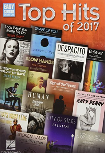 Top Hits of 2017 (Easy Guitar With Notes & -