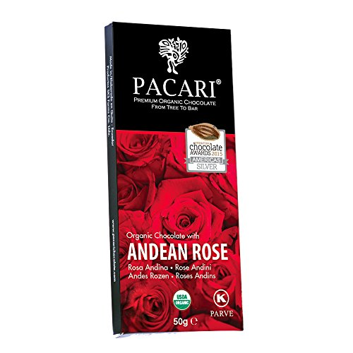 Pacari Roses Organic Chocolate Bar -