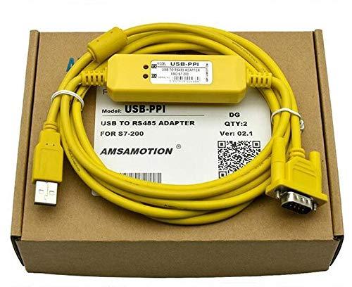 FidgetFidget USB-PPI PLC Programming Cable S7-200 Series Download/Data/Communication line (Series Ppi)