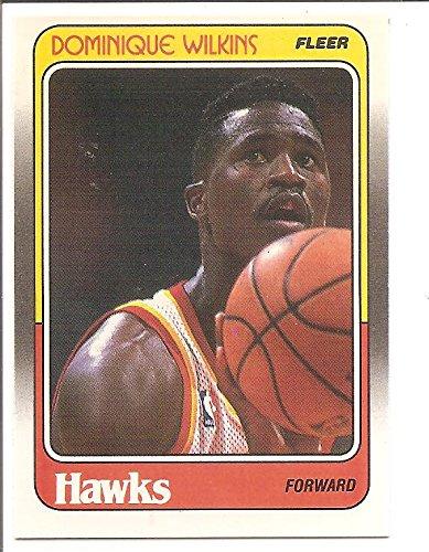 lanta Hawks 1988-89 Fleer Basketball Card #5 (OFF-CENTER) (Dominique Wilkins Atlanta Hawks)