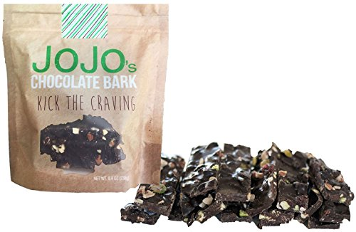 JOJO's, Guilt Free 70% Dark Chocolate Bark, All Natural Protein Raw Nuts and Dried Cranberries, 1.2oz Bars, 7 Count