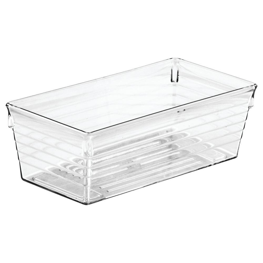InterDesign Sierra Cutlery Tray, Compact Drawer Divider, Made of Plastic, Ideal for Spoons, Forks and Other Common Utensils, Clear 00352