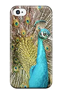 Hazel J. Ashcraft's Shop 2015 2050667K13378221 Iphone 4/4s Well-designed Hard Case Cover A Peacock Protector