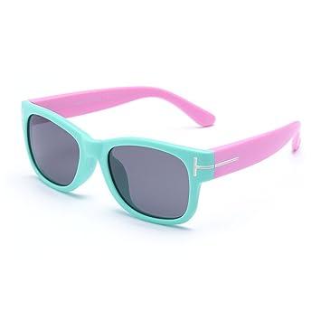 Gafas De Sol Polarizadas Clásicas para Niños Material De Silicona, Seguro Y Protegido - Protección