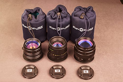 SET ANAMORPHIC flare lens 37mm,58mm,85mm for CANON EOS EF DECLICKED