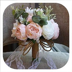 Memoirs- in Stock Pink Wedding Flower Bridal Bouquets 2019 Romantic Brooch Bouquets for Bridesmaids Brides Ramos De Novia,01 4