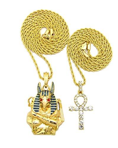 Egyptian Ankh Cross, God Anubis Pendant 20