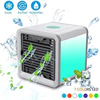 AIRZEIMIN Mini portable air conditioner,Usb Desktop Quiet spray humidifier Air cooler Apply to office, Home living room,Kitchen and bedroom-A