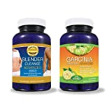 "Garcinia Cambogia Advanced AND Slender Cleanse Advanced -Together to Help You Lose Weight FAST!!! Garcinia Cambogia is ""Jitter-Free"" With The TV Dr's Required 60% HCA + A Colon Cleanse for MAX RESULTS - 2 BEST SELLERS FOR THE PRICE OF 1! (Bundle)"