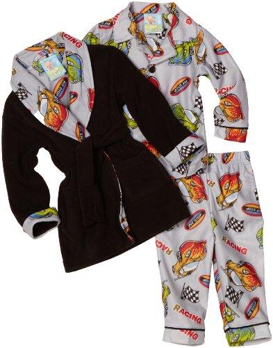 Baby Bunz Baby Boys' Racing Car 3 Piece Robe Set