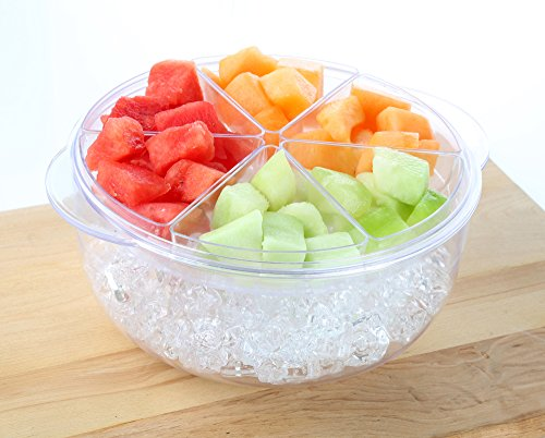 - 9 Piece Salad And Appetizer Bowl On Ice With Removable Trays