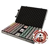 1000 Ct Yin Yang 14 gram Poker Chip Set in Rolling Aluminum Case