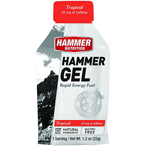 Hammer Nutrition Gel Single Serve Packets MIXED Flavors With Caffeine (12 Pack)