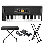 Korg EK-50 Entertainer Keyboard with Knox Adjustable X Style Keyboard Bench, Adjustable Keyboard...