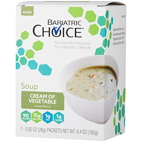 Bariatric Choice High Protein Soup Mix/Low-Carb Diet Soup - Cream of Vegetable (7 Servings/Box) - Fat Free, Low Carb, Sugar Free