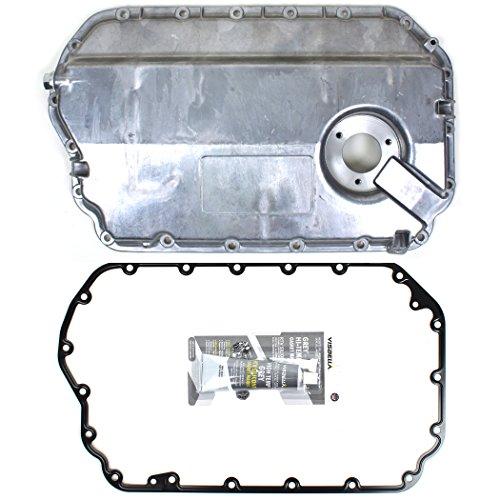 (CNU738 Brand New Engine Oil Pan Set with Metal Oil Pan Gasket and RTV Silicone)