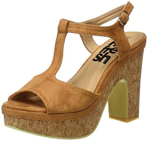 Refresh Women's 063518 Platform Sandals, White Bone (Camel)