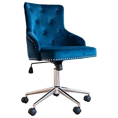 Excellent Irene House Modern Mid Back Tufted Velvet Fabric Computer Desk Chair Swivel Adjustable Accent Home Office Task Chair Executive Chair With Soft Seat Forskolin Free Trial Chair Design Images Forskolin Free Trialorg