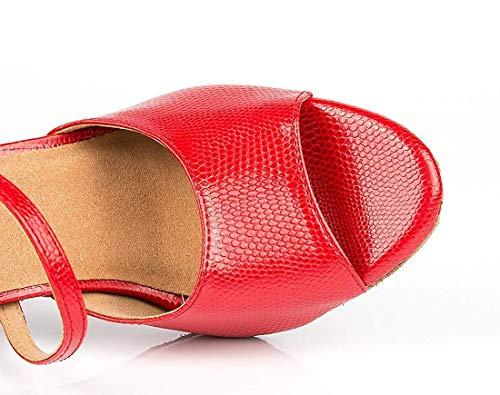 Scarpe Scarpe Singola da UK da Dimensione Dimensione Dimensione Tango da a per Red Colore 8 ZHRUI Fascia Donna Donna Sandali RxwfzHHI
