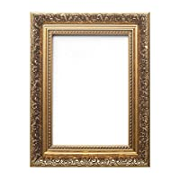 """Paintings Frames Ornate Swept Antique Style French Baroque Style Picture Frame/Photo Frame/Poster Frame with A High Clarity Styrene Shatterproof Perspex Sheet (50.8 x 60.96cm) 20"""" x 24"""" Gold"""