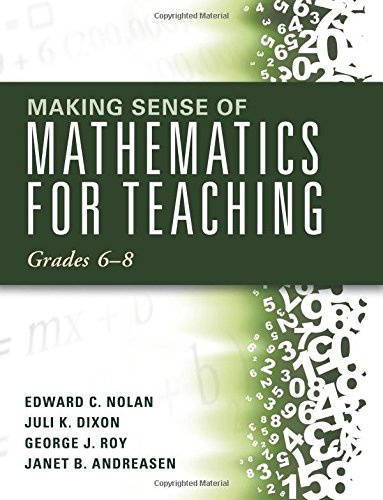 Making Sense of Mathematics for Teaching: Grades 6-8 (Unifying Topics for an Understanding of Functions, Statistics, and Probability)