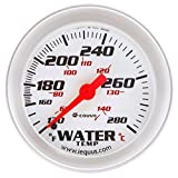 Equus 8242 2'' Mechanical Water Temperature Gauge, White with Aluminum Bezel