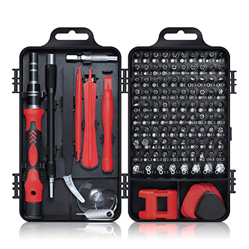 Gocheer Min Precision Screwdriver Set, 115 in 1 Magnetic Screwdriver Set with Case for iPhone, Computer, PC, Watch, Glasses, Electronics, Mini DIY Hand Work Repair Tools