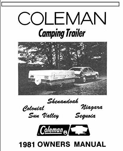 COLEMAN Popup Trailer Owners Manual-1977 Gettysburg Lexington ...