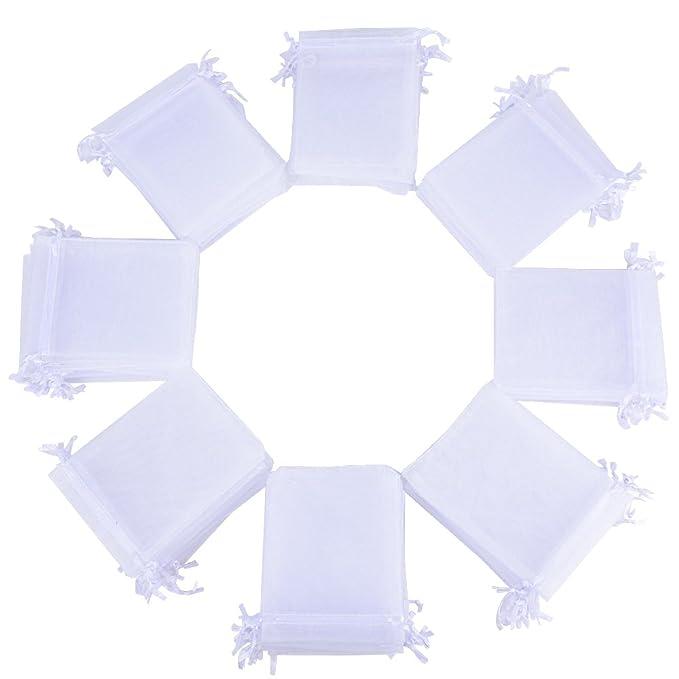 51 opinioni per (10 * 12cm) 100 pz Sacchetti Bianco Bustine Buste in Organza Regalo Bomboniere