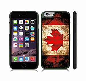 iStar Cases? iPhone 6 Plus Case with Canada Flag Distressed Grunge Design , Snap-on Cover, Hard Carrying Case (Black)