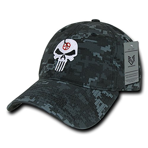 BHFC NTG Camo Camouflage Punisher Skull Military Navy Seal Special Forces Relaxed Polo Baseball Hat Cap