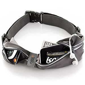 Running Belt USA Patented - Fanny Pack for Hands-Free Workout. iPhone X 6 7 8 Plus Buddy Pouch for Runners. Freerunning Reflective Waist Pack Phone Holder. Men Women Kids Fitness Gear Accessories