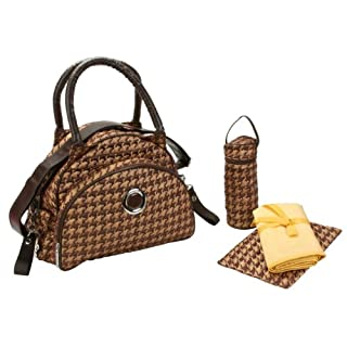 Kalencom Bellisima Herringbone Continental Flair Bag, Bronze