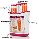 Baby Food Maker Chopper Grinder Fresh Squeezed Squeeze Station Baby Weaning Food Puree Reusable Pouches Maker
