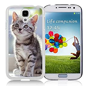 Personalized Hard Shell Cute Christmas Cat Durability White TPU Case For Samsung Galaxy S4,Samsung I9500