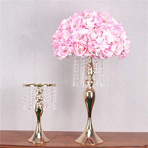 - VDV Artificial Flowers New S-Shaped Crystal Acrylic Bead Curtain Rotating Road Lead Wedding Props Ferris Wheel Mermaid Candlestick Flower Bracket vase