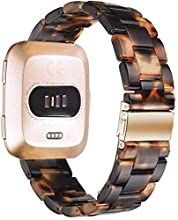 Songsier Compatible with Fitbit Versa 2/Versa/Versa Lite, Comfortable and Lightweight, Perfect Resin Replacement Band Women Men Wristbands Strap Bracelet for Fitbit Versa 2 Smartwatches